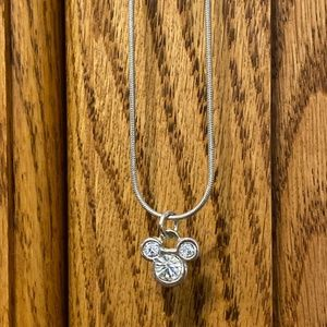 Mickey Mouse Rhinestone Necklace